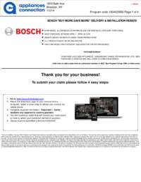 Bosch - April Rebate with Bonus Up To $400