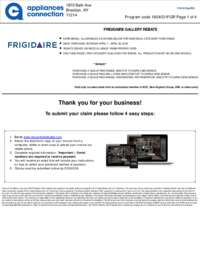 Frigidaire - April Rebate with Bonus up to $300