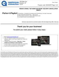 Fisher Paykel - $100 Rebate For Individual Category Purchases