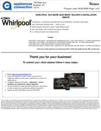 Whirlpool - April Rebate Up to $500 Off