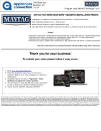 Maytag - April Rebate with Bonus Up To $500