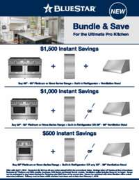 BlueStar - Instant Savings Up To $1500 for the Ultimate Pro Kitchen