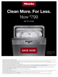 Miele - 20% off Dishwasher Discount Offer