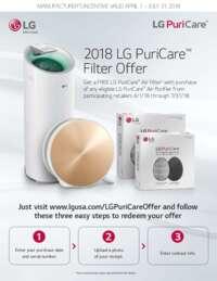 LG - PuriCare Filter Offer