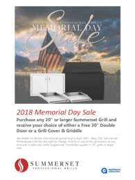 Summerset - Memorial Day Promo (up to $398 value)