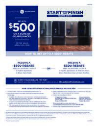 GE - Start With The Finish Rebate (up to $500 value)