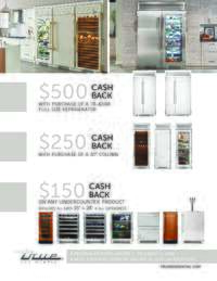True - Refresh Your Space Rebate (up to $500 value)