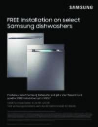 Samsung - Free Dishwasher Installation Offer