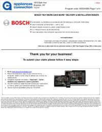 Bosch - May Rebate with Bonus Up To $550