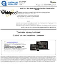 Whirlpool - May Rebate Up to $500 Off