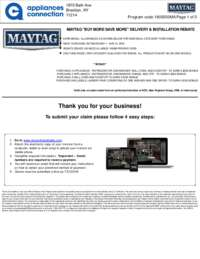 Maytag - May Rebate with Bonus Up To $500