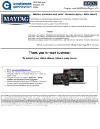 Maytag - May Rebate with Bonus Up To $500
