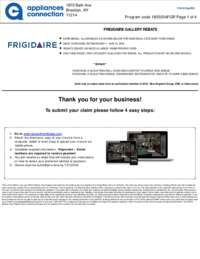 Frigidaire - May Rebate with Bonus up to $350