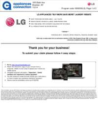 LG - Laundry Pair and Pedestal Rebate ($300 value)