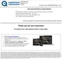 NECO Dishwasher Multibrand Rebate (up to $75 value)