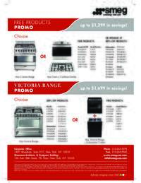 SMEG - Free Products Promo (up to $1699 value)