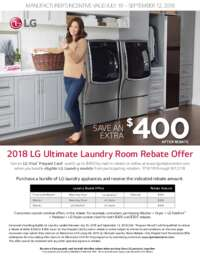 LG - Ultimate Laundry Room Rebate (Up To $400 value)