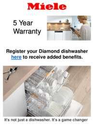 Miele - 5 Years Warranty Offer