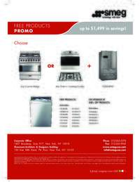 SMEG - Free Dishwasher Promo (up to $1499 value)
