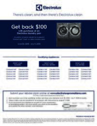 Electrolux - Laundry Pair Rebate ($100 value)
