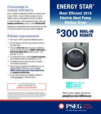 PSEG Long Island - Electric Heat Pump Clothes Dryer Rebate ($300 value)