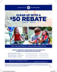 GE - Clean Up with a $50 Rebate