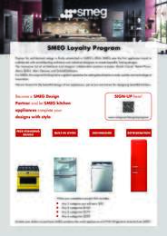 SMEG - Loyalty Program