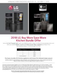 LG - Buy More Save More Kitchen Bundle Offer (up to $400 value)