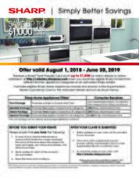 Sharp - Simply Better Savings (up to $1000 value)