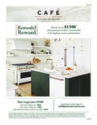 GE Cafe - Remodel Reward (up to $1500 value)