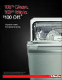 Miele - Instant $100 OFF Dishwashers