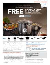 GE - FREE 11-piece Chantal Cookware Set Rebate ($895 value)