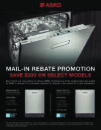 Asko - Pocket Handle Dishwasher Promotion (up to $200 value)