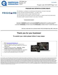 Frigidaire - High Definition Cooking Rebate (up to $650 value)