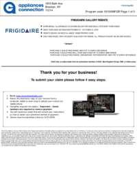 Frigidaire - October Rebate with Bonus up to $600