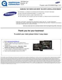 Samsung - October Rebate with Bonus Up To $600