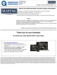 Maytag - October Rebate with Bonus Up To $500