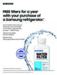 Samsung - Free Water Filter Offer ($49.99 value)