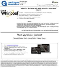 Whirlpool - October Rebate Up to $550 Off