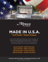 Alfresco - Tariff-Buster Rebate Program (up to $1000 value)