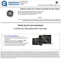 GE Cafe - October Rebate