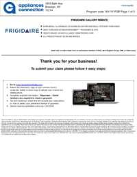 Frigidaire - November Rebate with Bonus up to $625