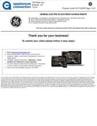 GE - November Rebate