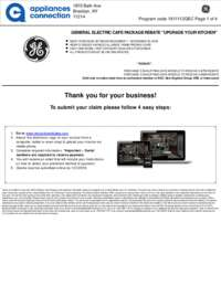 GE Cafe - November Rebate