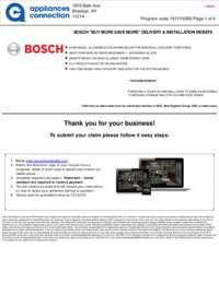 Bosch - November Rebate with Bonus Up To $550
