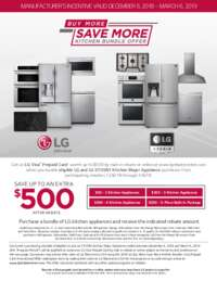 LG - Buy More Save More Kitchen Bundle Offer (up to $500 value)