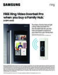 Samsung - Free Ring Video Doorbell Pro Offer ($249 value)