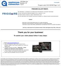 Frigidaire - Winter Rebate with Bonus up to $575