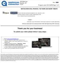 Whirlpool/Maytag Pedestal Rebate ($250 value)