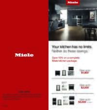 Miele - Save 10% on a Miele Kitchen Package of your choice